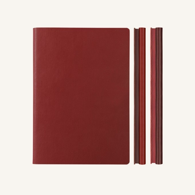 Signature Duo vonalas / pontozott jegyzetfüzet - A5 , piros/vörös