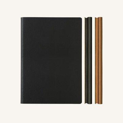 Signature Duo vonalas / pontozott jegyzetfüzet - A5 , fekete/barna