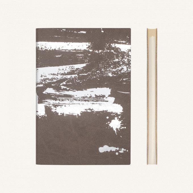 Signature Paint Art üres lapos jegyzetfüzet -A5 ,Ezüst