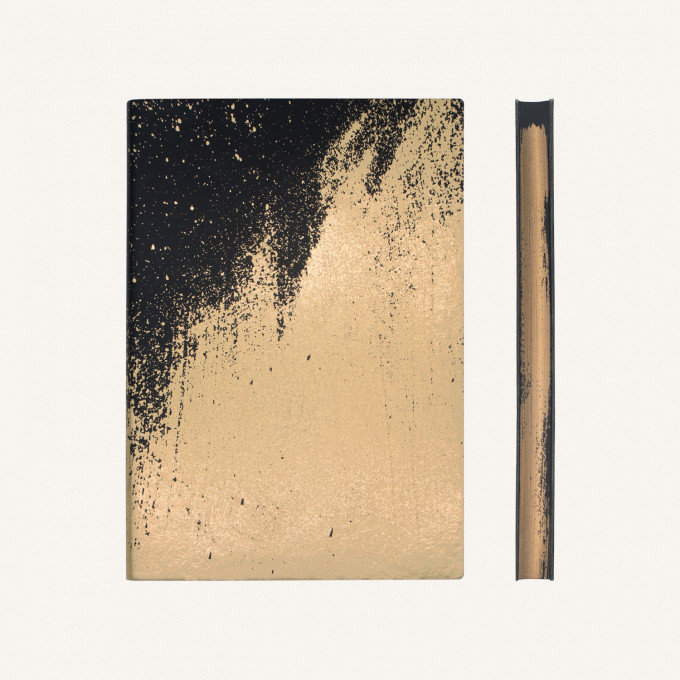 Signature Paint Art üres lapos jegyzetfüzet -A5 ,Arany