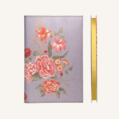 Flower Wow vonalas jegyzetfüzet - A5 , mályva