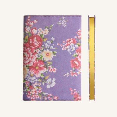 Flower Wow vonalas jegyzetfüzet - A5 , Lila