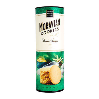 Classic Moravian Sugar Cookie Tube, 4.75oz