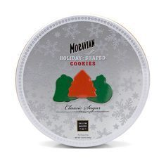 Classic Moravian Sugar Cookie Holiday Gift Tin, 7.25oz
