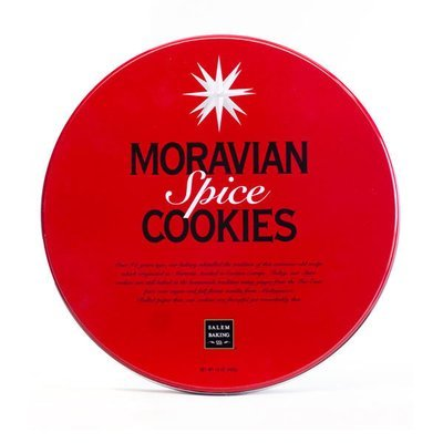 Ginger Spice Moravian Cookie Gift Tin, 13oz