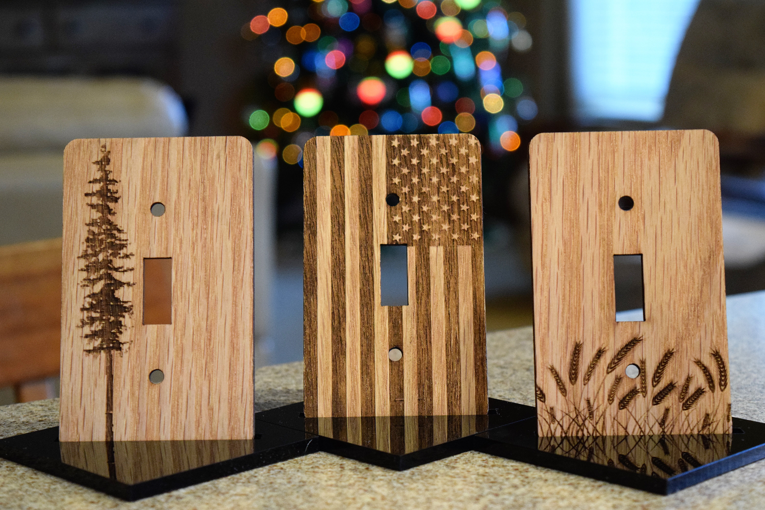Against The Grain Wood Light Switch Covers