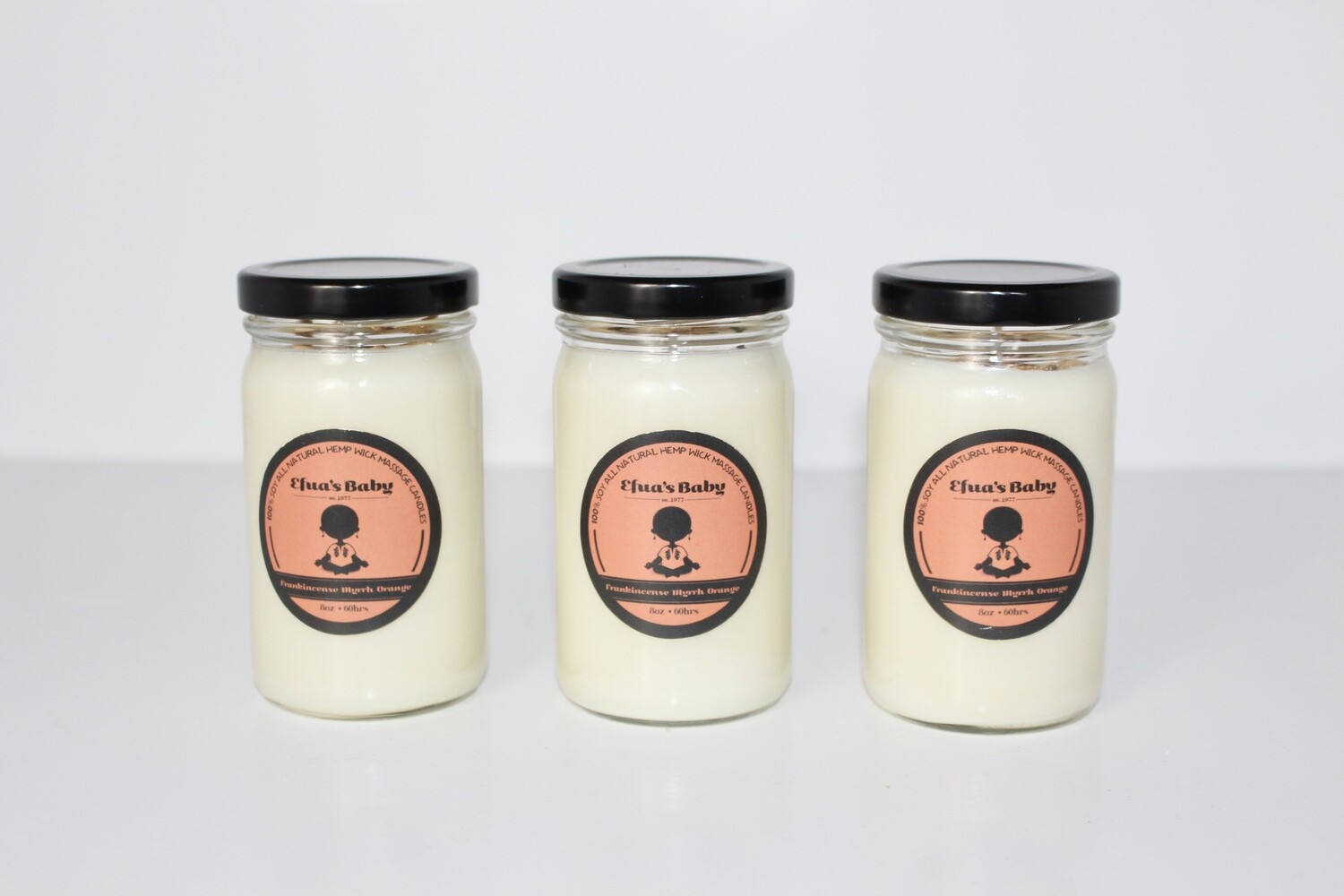 Frankincense/Myrrh/Orange 4oz Soy Candle