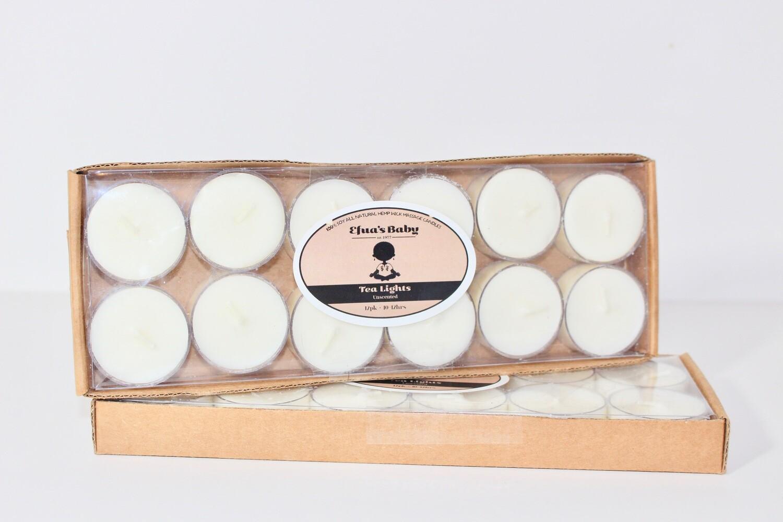 Unscented 12 Pack Soy Tea-lights