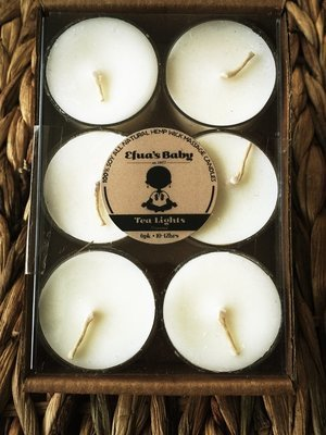 Unscented 6 Pack Soy Tea-lights