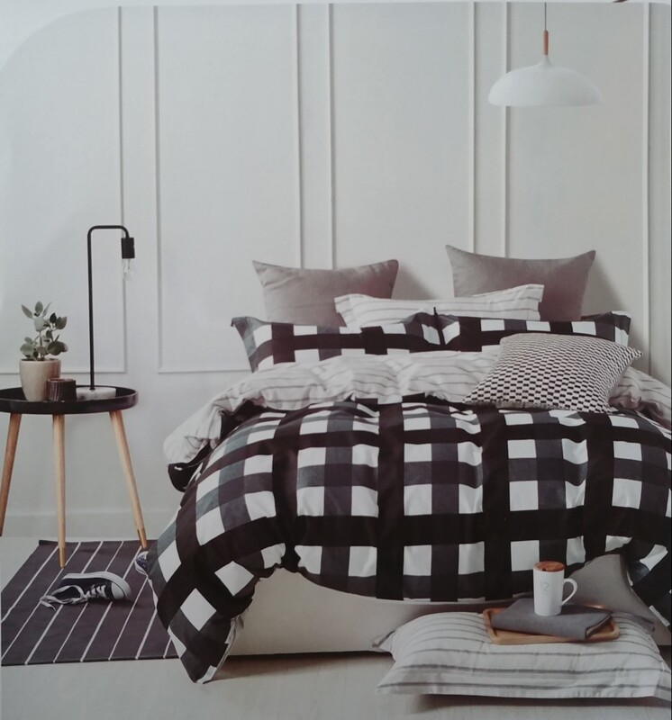 ALBERT STRIPES  PLAID BEDDING SET