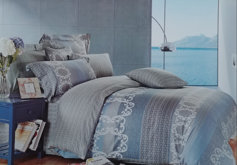Blue Water Way Stripe Bedding Set