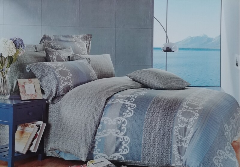 Blue Water Way Stripe Bedding Set