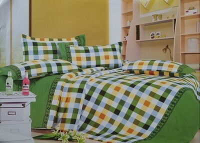 Lewis Orange and yellow stripe bedding set