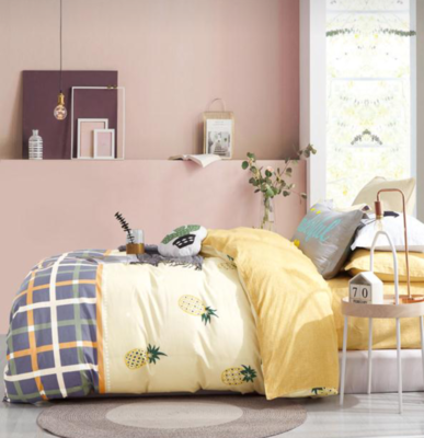 SUNSET YELLOW 6 PIECE REVERSIBLE BEDDING SET