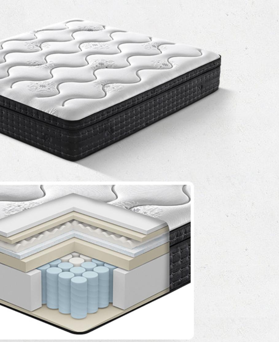 Deluxe cloud sensation mattress