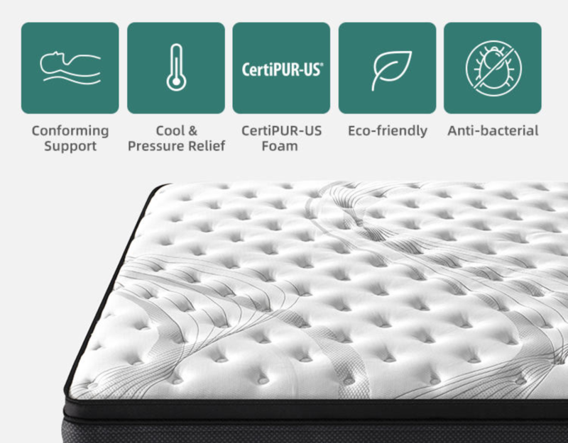 Elite cloud sensation hybrid mattress