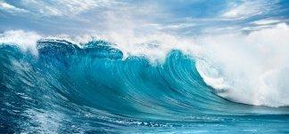 Энергия волны. Фотообои, волны. Размер: 291х136 см.