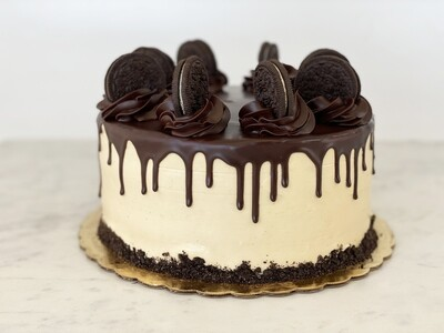 Chocolate Mocha Peanut Butter Oreo Cake