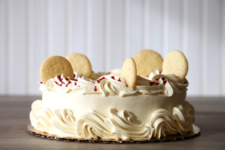 French Lemon Raspberry Cake