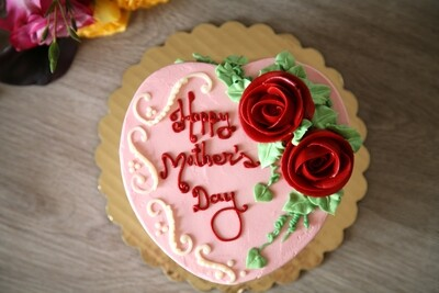 Mother's Day White Chocolate Buttercream & Passion Fruit Mousse Cake