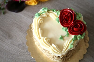 Mother's Day Carrot Heart Cake