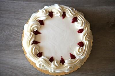 Vegan French Lemon Raspberry Cake