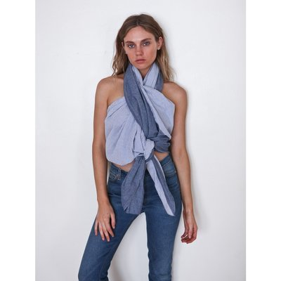 Donni Diagonal - Indigo seer sucker / blue chambray