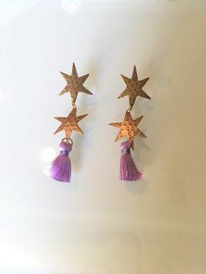 Star Drop Earring With Tassel
