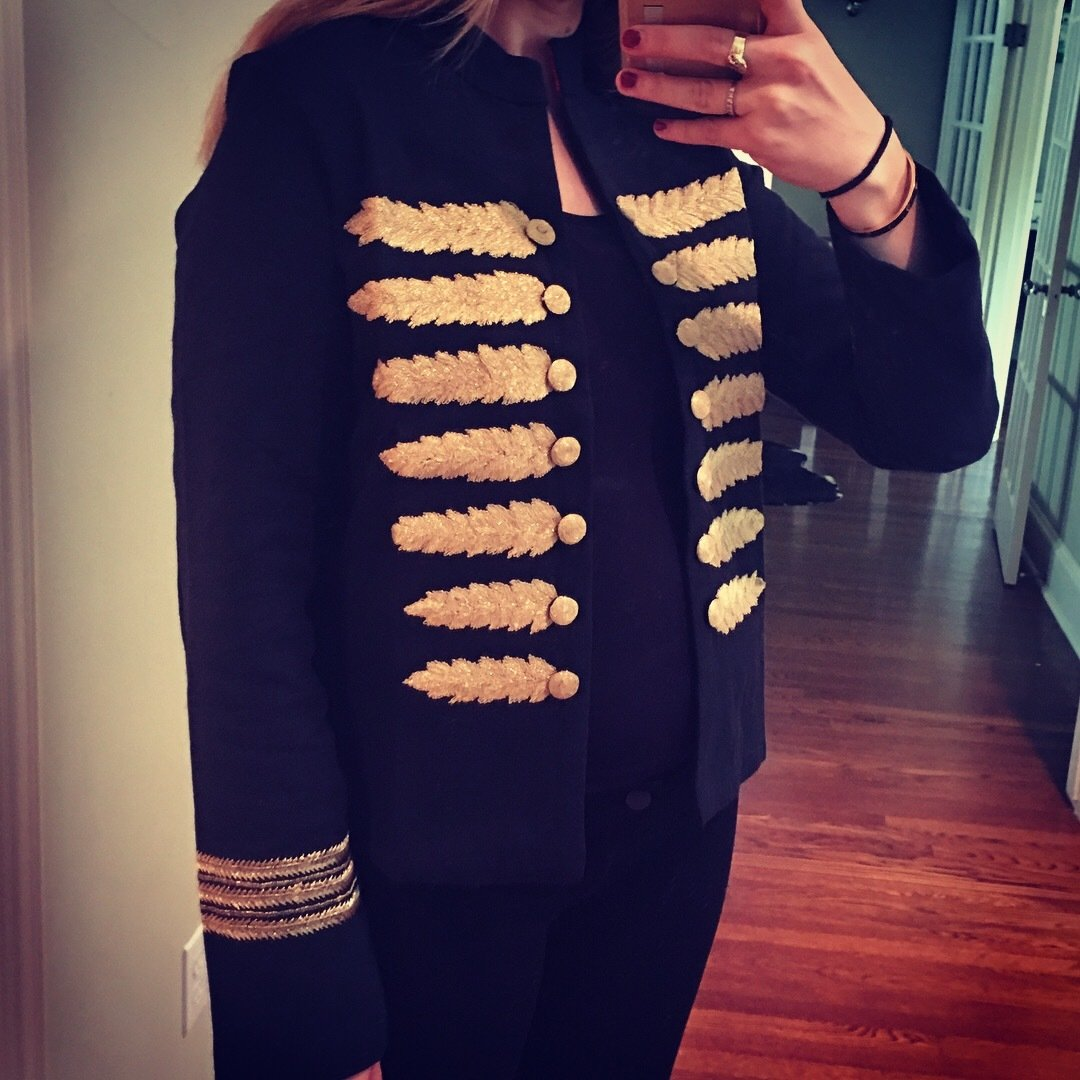 Gold Thread Open Jacket