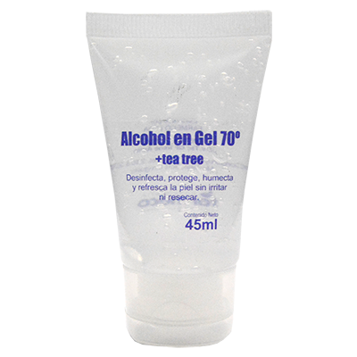 Alcohol en Gel 70° + Tea Tree 45ml