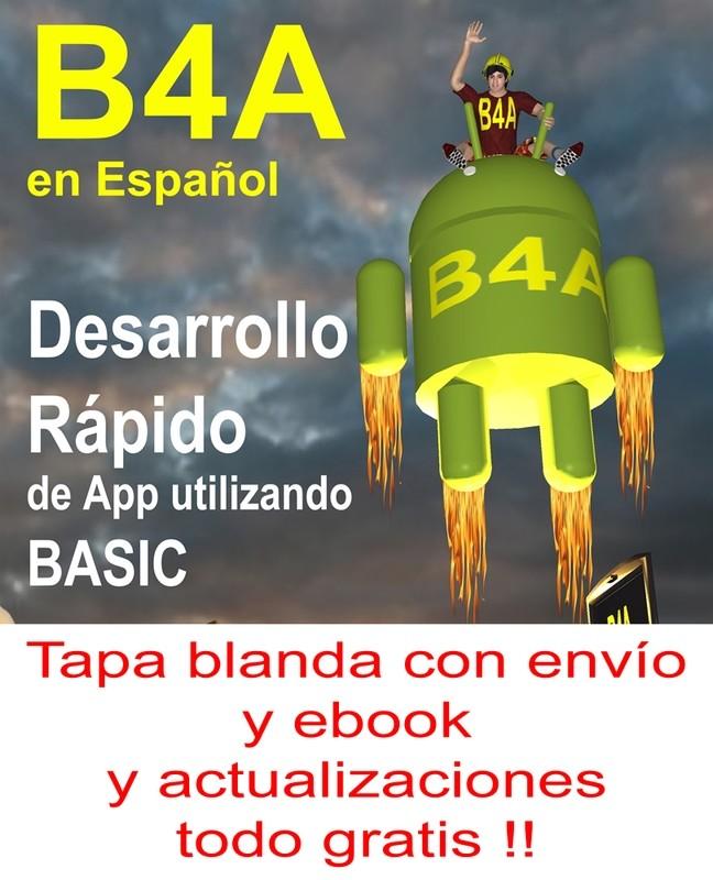 B4A en Español tapa blanda con envío y ebook y actualizaciones gratis