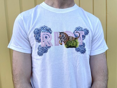 White floral Riot Tee