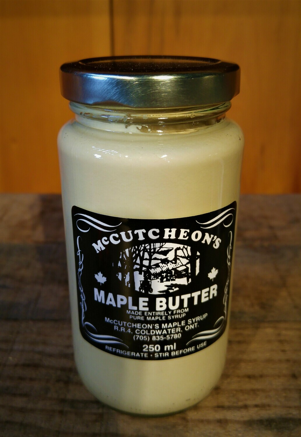 250ml Pure Maple Butter Glass Bottle - Available for pickup order only - Not shipped