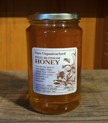 1000g Liquid Wildblossom Honey Glass Jar - Available for pickup orders only - Not shipped.