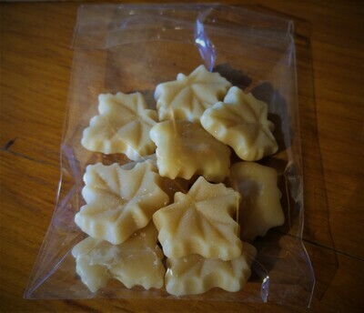 Package of 10 Small Pure Maple Sugar Candies - Available for pickup orders only - Not shipped