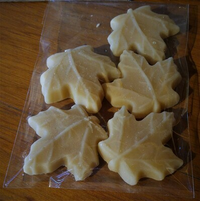 Package of 5 Large Pure Maple Sugar Candies - Available for pickup orders only - Not shipped