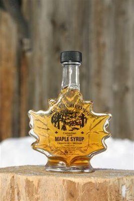 50ml Ontario Grade A Amber Maple Syrup Maple Leaf Bottle - Available for pickup orders only - Not shipped.