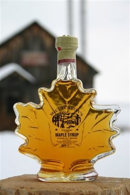 250ml Ontario Grade A Amber Maple Syrup  Maple Leaf Glass Bottle - Available for pickup order only​ - Not shipped