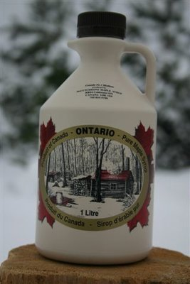 1L Ontario Grade A Amber Maple Syrup Plastic Jug