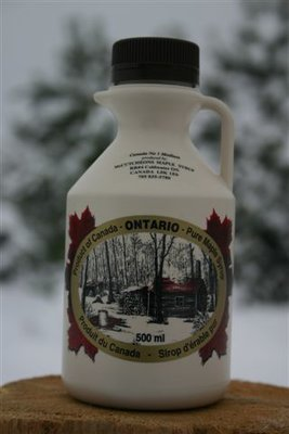 500ml Ontario Grade A Amber Maple Syrup Plastic Jug