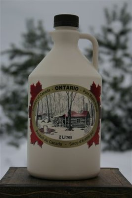 2L Ontario Grade A Amber Maple Syrup Plastic Jug - Available for pickup orders only - Not shipped.