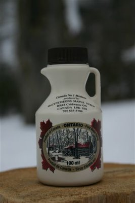 100ml Ontario Grade A Amber Maple Syrup Plastic Jug