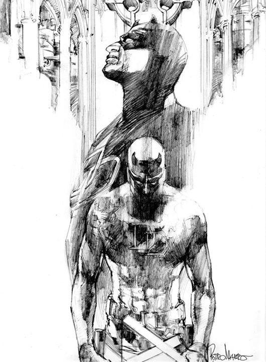 Daredevil Original Drawing