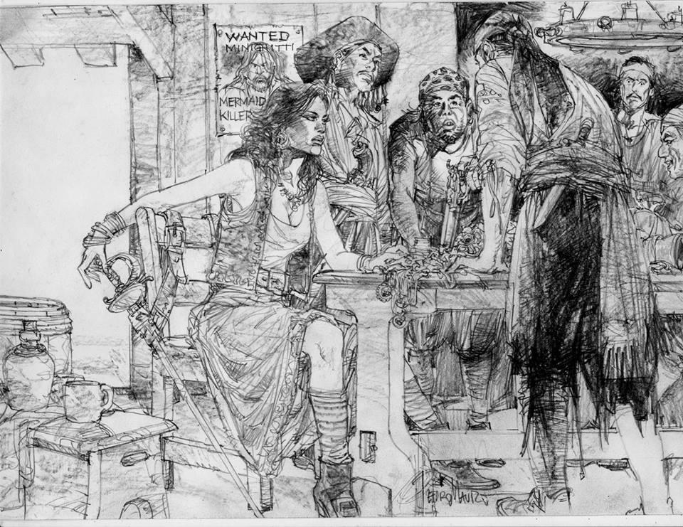 Splitting the loot original drawing