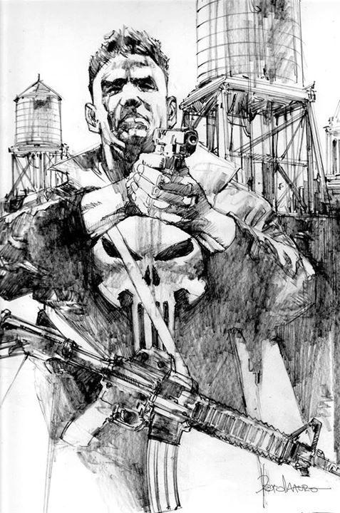 Punisher Original Drawing