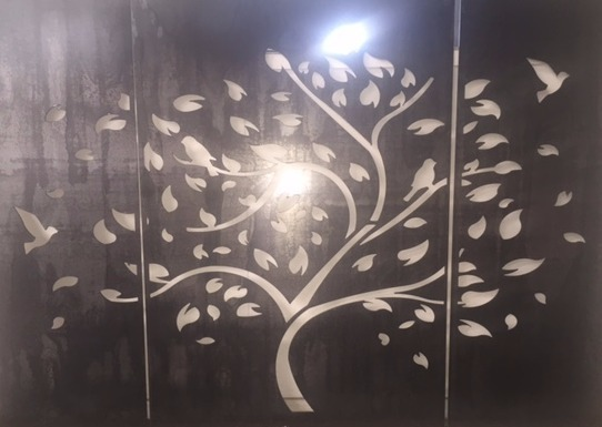 Corten tree screen