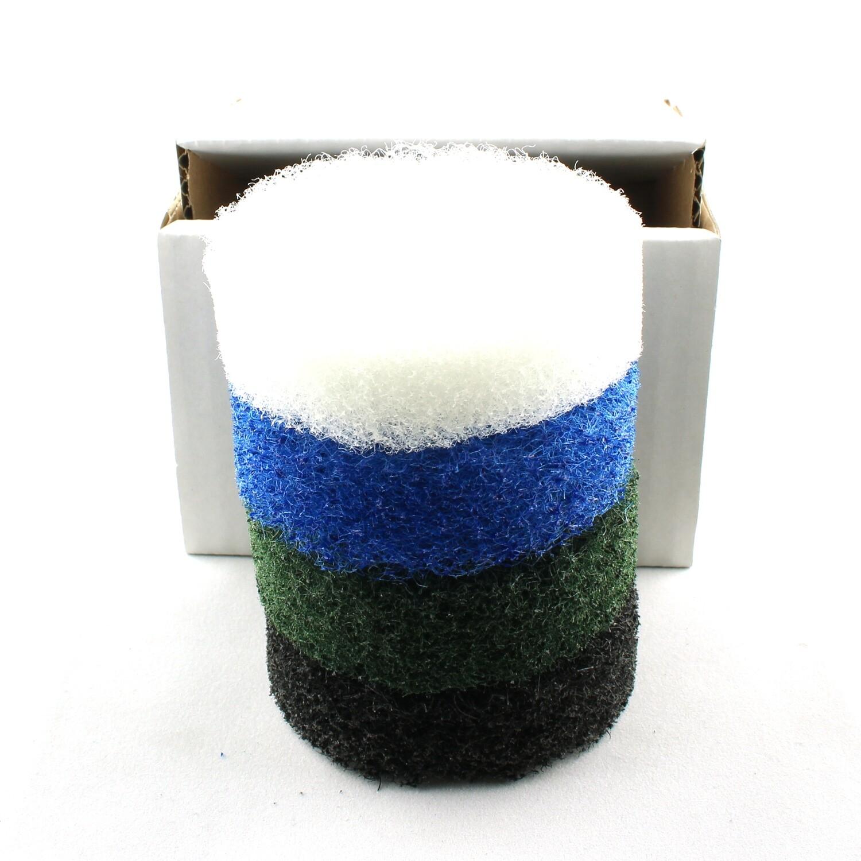 Nylon fiber abrasive pads 3inch - 4 grits set