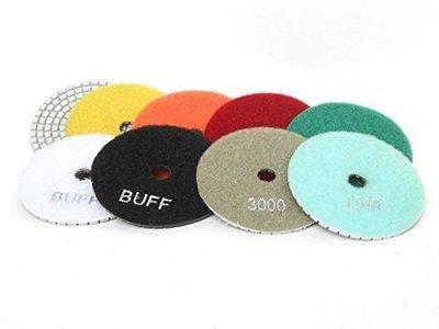 Diamond polshing discs 3inch 8 grits set