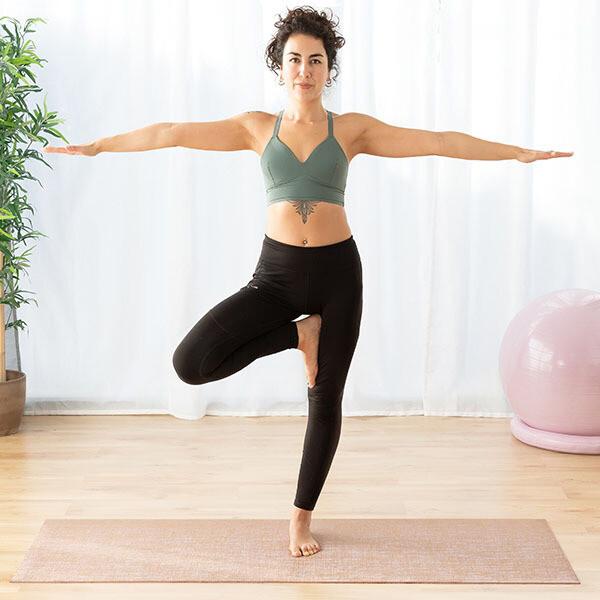 Tappetino vegetale confort per esercizi Yoga