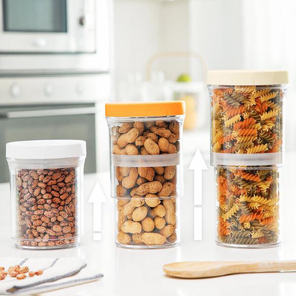 Kit 3 contenitori da cucina multiuso regolabili